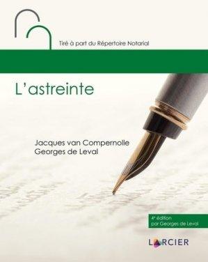 L'astreinte - Éditions Larcier - 9782807924789 -