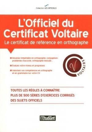 L'officiel du certificat Voltaire - L'Etudiant - 9782817604367 -