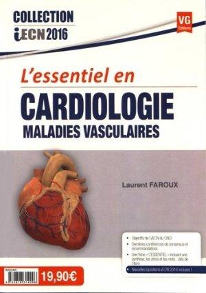 L'essentiel en Cardiologie, maladies vasculaires - vernazobres grego - 9782818314296 -