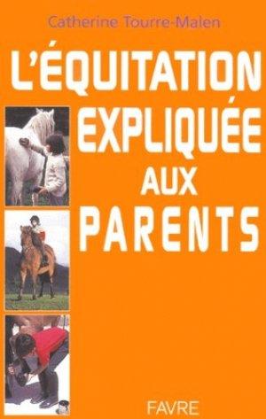 L'équitation expliquée aux parents - favre - 9782828905729 -