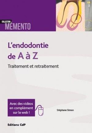L'endodontie de A à Z - cdp - 9782843614088 -