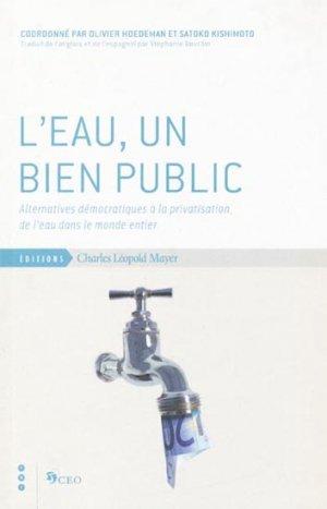 L'eau, un bien public - charles leopold mayer - 9782843771583 -