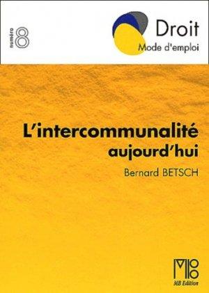 L'intercommunalité aujourd'hui - MB Formation - 9782846410649 -