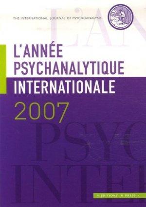 l'annee psychanalytique internationale 2007 - in press - 9782848351247 -