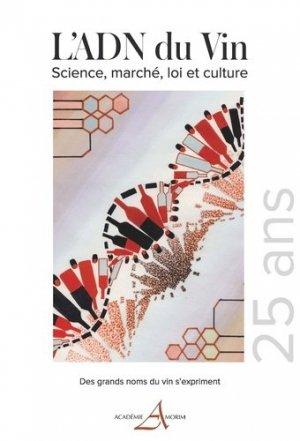 L'ADN du vin science, marché loi et culture - france agricole - 9782855574363 -