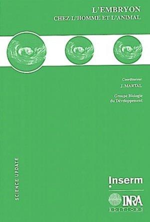 L'embryon chez l'homme et l'animal - inra / inserm - 9782855988047 -