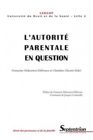 L'autorité parentale en question - Presses Universitaires du Septentrion - 9782859398309 -