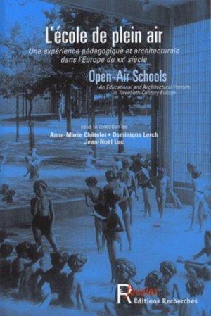 L'école de plein air - Recherches éditions - 9782862220444 -