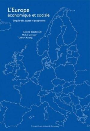 L'Europe économique et sociale - Presses universitaires de Strasbourg - 9782868204769 -