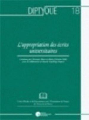 L'appropriation des écrits universitaires - PU de Namur - 9782870376713 -