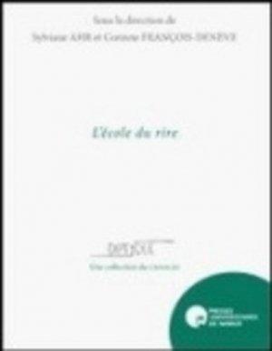 L'école du rire - PU de Namur - 9782870378229 -
