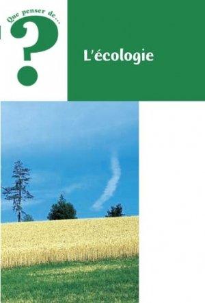 L'écologie - Fidélité - 9782873562755 -