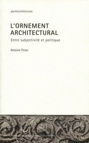 L'ornement architectural-presses polytechniques et universitaires romandes-9782889152070