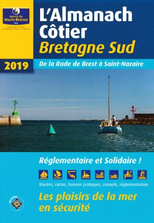 L'almanach côtier Bretagne Sud 2019 - oeuvres du marin breton - 9782902855599 -