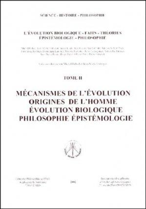 L'évolution biologique, faits, théories, épistémologie, philosophie. - Institut Interdisciplinaire d'Etudes Epistémologiques - 9782910425166 -