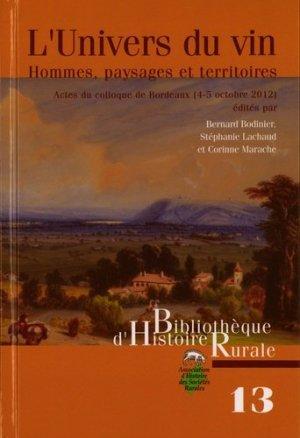 L'univers du vin - presses universitaires de rennes - 9782911369124 -