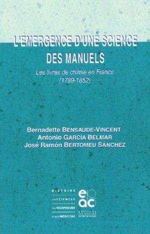 L'émergence d'une science des manuels - Archives Contemporaines Editions - 9782914610131 -
