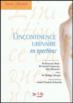 L'incontinence urinaire en questions - datebe - 9782952043533 -