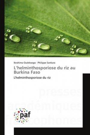L'helminthosporiose du riz au Burkina Faso - presses académiques francophones - 9783841641007 -