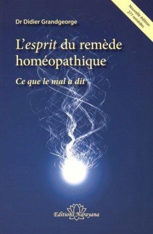 L'esprit du remède homéopathique - narayana - 9783955821036 -