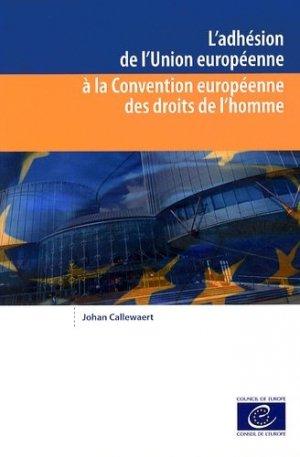 L'adhésion de l'Union européenne à la Convention européenne des droits de l'homme - Conseil de l'Europe - 9789287177056 -
