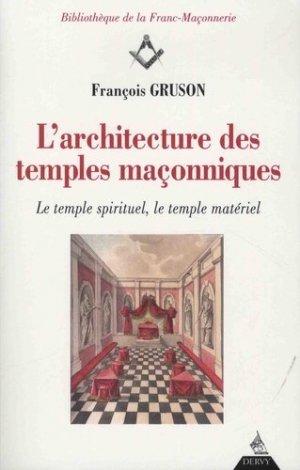 L'architecture des temples maçonniques - Dervy - 9791024202754 -