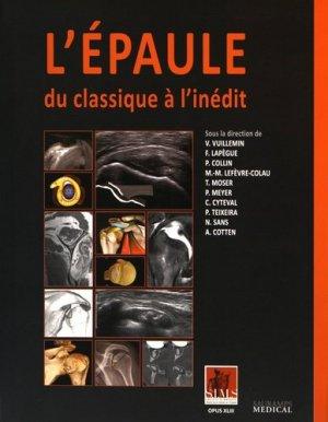 L'épaule - du classique à l'inédit - sauramps medical - 9791030300635 -