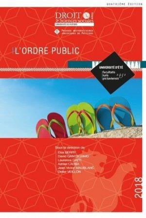 L'ordre public. 4e édition - Presses universitaires juridiques de Poitiers - 9791090426948 -