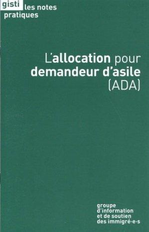 L'allocation pour demandeur d'asile (ADA) - Gisti - 9791091800501 -