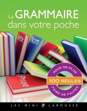 La grammaire dans votre poche - Larousse - 9782036004771 -