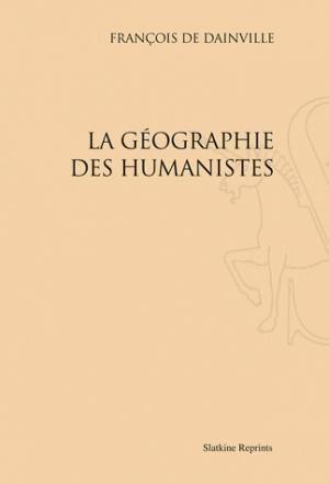 La géographie des humanistes - slatkine - 9782051021999 -