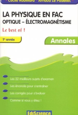 La physique en fac Optique - Électromagnétisme 1ère année  - ediscience - 9782100059836 -