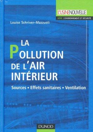 La pollution de l'air intérieur - dunod - 9782100516063 -