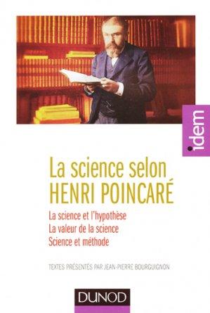 La science selon Henri Poincaré - dunod - 9782100702343 -