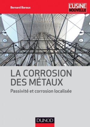 La corrosion des métaux - dunod - 9782100705467 -