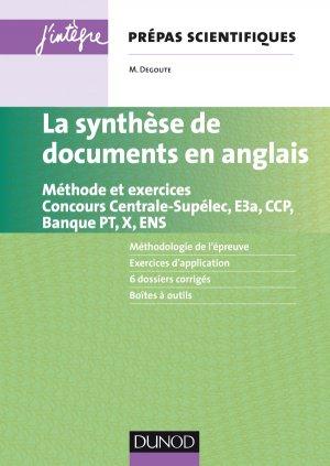 La synthèse de documents en anglais Prépas scientifiques - dunod - 9782100759125