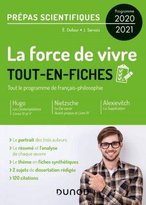 La force de vivre - Tout-en-fiches - Prépas scientifiques Programme 2020-2021 - dunod - 9782100809745 -