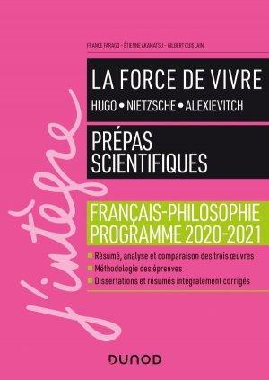 La force de vivre - Le Manuel - Prepas scientifiques Programme 2020-2021 - dunod - 9782100809752 -