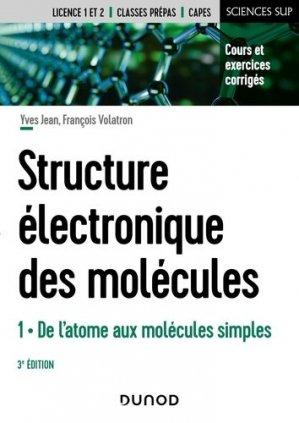La structure électronique des molécules - Dunod - 9782100824861 -