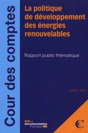 La politique de développement des énergies renouvelables - La Documentation Française - 9782110095848 -