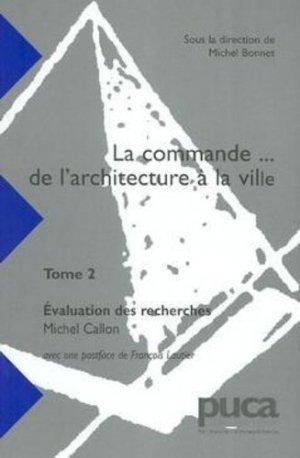 La commande... de l'architecture à la ville - puca - 9782110856500 -