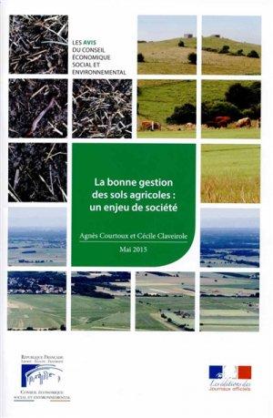 La bonne gestion des sols agricoles : un enjeu de société - journaux officiels - 9782111386679 -