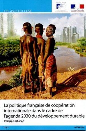 La politique française de coopération internationale dans le cadre de l'agenda 2030 du développement durable - La Documentation Française - 9782111510890 -