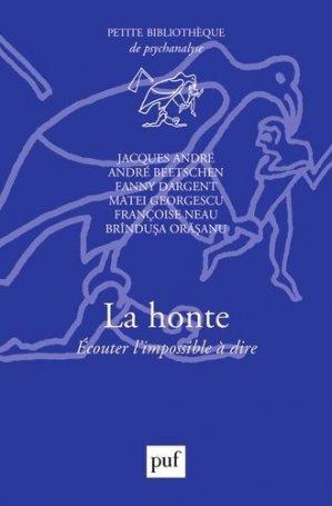 La honte - puf - presses universitaires de france - 9782130798590 -