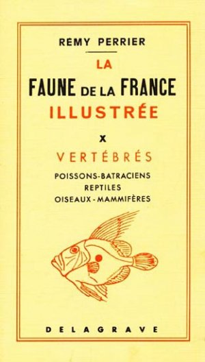 La faune de la France illustrée Tome 10 - Vertébrés - delagrave - 9782206005904 -
