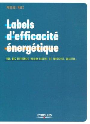 Labels d'efficacité énergétique - eyrolles - 9782212126440 -