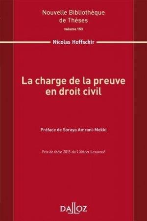 La charge de la preuve en droit civil - dalloz - 9782247159529 -