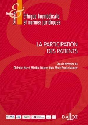 La participation des patients - dalloz - 9782247170340 -