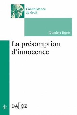 La présomption d'innocence - dalloz - 9782247188925 -