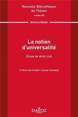 La notion d'universalité - dalloz - 9782247206377 -